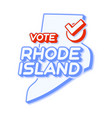 presidential vote in rhode island usa 2020 state vector image vector image