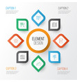 project icons set collection of board reminder vector image