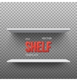 Realistic Shelf EPS10 Empty Shelf for vector image vector image