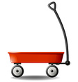 Red wagon vector image vector image