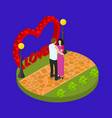 romantic relationship sign 3d isometric view vector image vector image