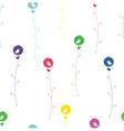 seamless bird color vector image vector image