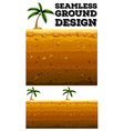 Seamless ground design with coconut tree vector image vector image