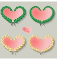 Set of cute hearts on a gray background vector image vector image