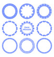 set of greek round frames 4 vector image vector image