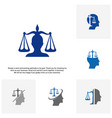 set of law firm with people logo design template vector image vector image