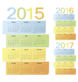 Set of russian color calendars vector image