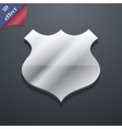 Shield icon symbol 3D style Trendy modern design vector image vector image