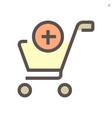 shopping cart icon design for shopping graphic vector image