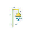 shower icon design vector image vector image