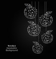 silver apples made of connected lines and dots vector image vector image