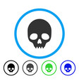 skull rounded icon vector image