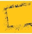 Splash frame yellow vector image