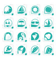 stylized simple summer and holiday icons vector image vector image