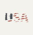 usa letters in colors us flag in grunge style vector image vector image