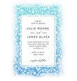 vintage wedding invitation template vector image vector image