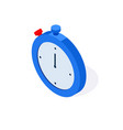 watch isometric flat icon 3d stopwatch timer vector image vector image