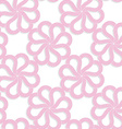 White 3D with colors pink flowers vector image vector image