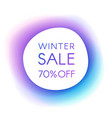 winter sale smooth paper banner vector image vector image