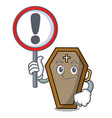 with sign coffin character cartoon style vector image