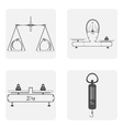 monochrome icon set with scales vector image