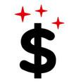 sparkle dollar symbol icon vector image
