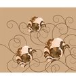 Abstract composition with flowers and ornaments vector image vector image