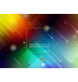 abstract geometric shapes on colorful background vector image vector image
