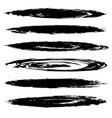 black smears vector image vector image