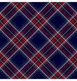 Blue red diagonal check plaid seamless pattern vector image vector image