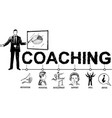 business coaching concept hand drawn vector image