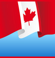 canadian flag wavy abstract background vector image