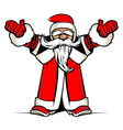 Cartoon Santa vector image