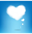 Cloud From Hearts With Blue Background vector image