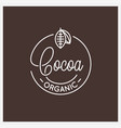 cocoa lettering logo round linear logo cocoa vector image vector image