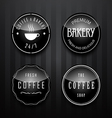 coffee badge vector image