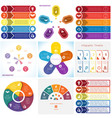 collections infographics elements template 5 vector image vector image