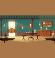 cowboy saloon western retro bar empty interior vector image
