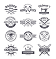 Crafts Emblems 1 vector image vector image