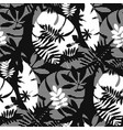 decorative textured tropic leaves seamless pattern vector image