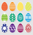 Easter colorful eggs vector image