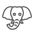 elephant line icon animal and zoo vector image