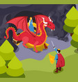 fabulous heroes isometric composition vector image vector image