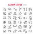 fast delivery logistic icons big set in flat style vector image vector image