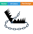 Flat design icon of bear hunting trap vector image