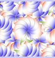 floral elegance 3d seamless pattern modern vector image vector image