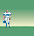 football player background vector image vector image
