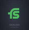 FS initial logo FS initial monogram logotype vector image vector image
