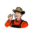 funny farmer farm agriculture farming logo or vector image vector image