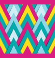 geometric bright funky pattern vector image